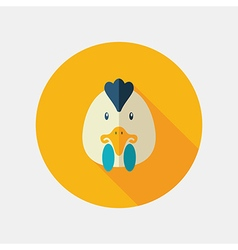 Chicken flat icon Animal head vector image
