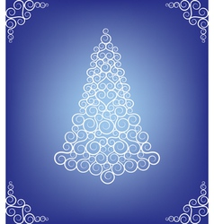 Curly christmas tree vector