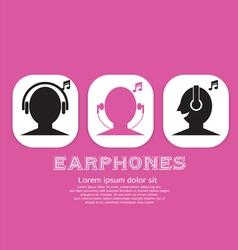 Earphones EPS10 vector image