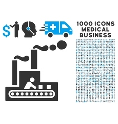 Fabric building icon with 1000 medical business vector