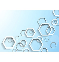 Hexagon geometrical background template vector image