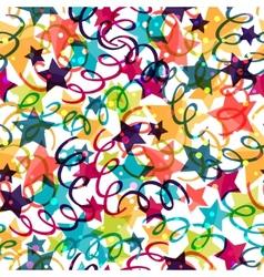 Holiday seamless pattern with shiny celebration vector