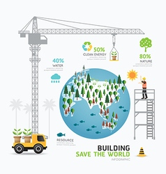 Infographic nature care template design building vector