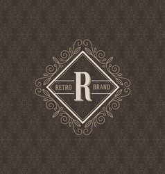 Monogram logo template vector