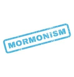 Mormonism rubber stamp vector
