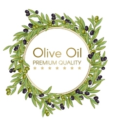 Olive oil round wrench background vector