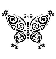 Ornamental butterfly 2 vector image vector image