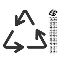 Recycle arrows icon with men bonus vector