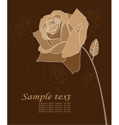 rose poster vector image vector image