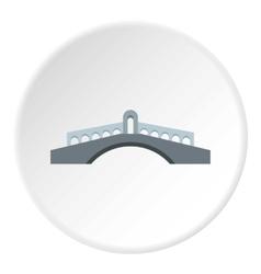 Round bridge icon flat style vector