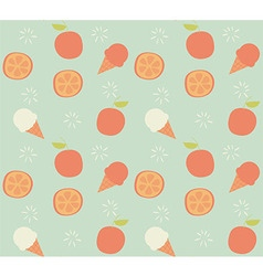 Seamless pattern with hand drawn orange fruit vector image vector image