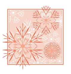 Snowflakes abstract red backdrop vector