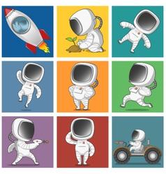 Spaceman set vector