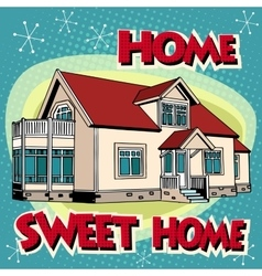 Sweet home cottage vector