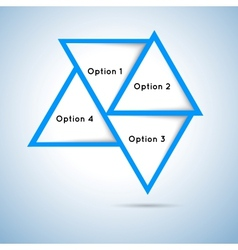 Triangles options vector image vector image