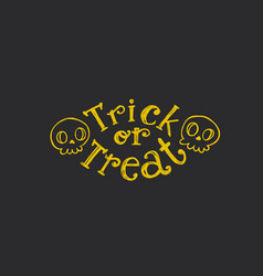 trick or treat sketch text vector image vector image