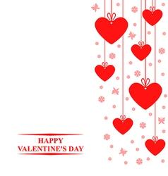 valentine tag vector image vector image