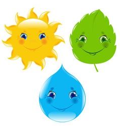Weather Cartoon vector image vector image