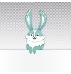 Smiling cartoon rabbit funny bunny cute hare vector