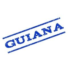 Guiana watermark stamp vector