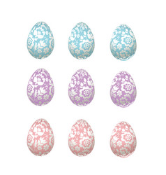 easter egg pale color luxury decoration  floral vector image