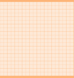 Orange metric graph paper seamless pattern vector