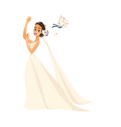 Pride throwing her bouquet isolated vector