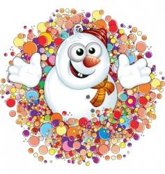 snowman label vector image