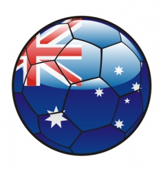flag of Australia on soccer ball vector image