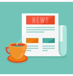 News concept in flat style vector