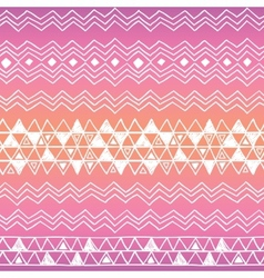 Hand drawn seamless tribal patter with gradient vector