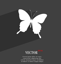 Butterfly icon symbol flat modern web design with vector