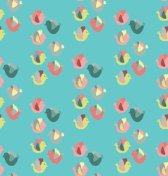 Cute birds in bright colors vector