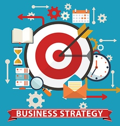 Business strategy flat banner vector