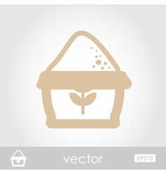 Sack of flour icon vector