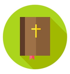 Christian bible book with bookmark and cross vector