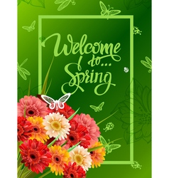 Welcome to spring lettering vector