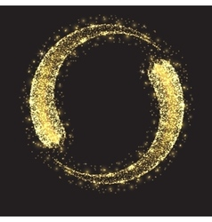 Glittering star dust circle vector