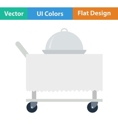Flat design icon of Restaurant cloche on vector image