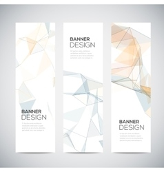 Banners with abstract colorful triangulated vector