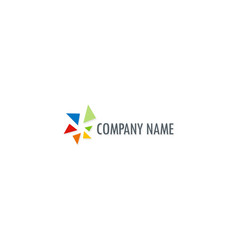 abstract colored technology company logo vector image