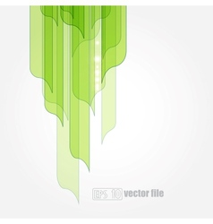 abstract green leaves eco background vector image