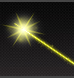 abstract yellow laser beam magic neon light lines vector image vector image