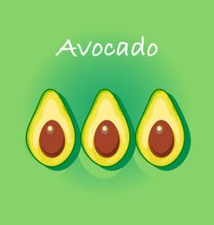 avocado cartoon background vector image vector image