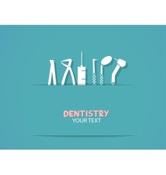 Background with dentistry tools vector