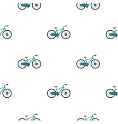 Bicycle pattern flat vector