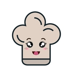 Chef hat kawaii style vector