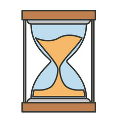 Colorful silhouette of sand clock icon vector