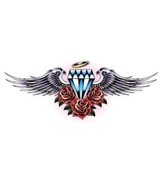 diamond wing emblem vector image vector image
