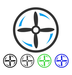Drone screw rotation flat icon vector
